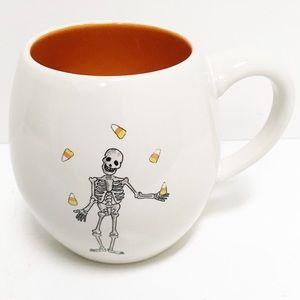 Rae Dunn Halloween Mug Skeleton Juggles Candy Corn
